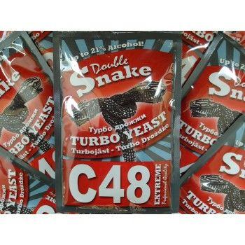Спиртовые турбо дрожжи Double Snake С 48